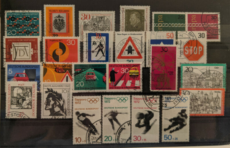 Germany 1971 Complete Year Set Used