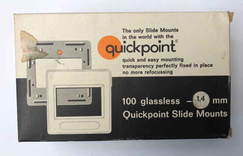 100? QUICKPOINT 24 x 36 PLASTIC SLIDE MOUNTS GLASSLESS MADE IN WEST GERMANY 35mm