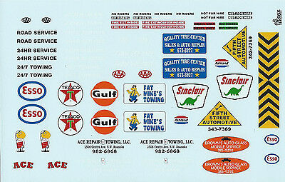 GOFER RACING 1:24, 1:25 & 1:18 SCALE MODEL CAR DECAL SET FOR SERVICE TRUCKS