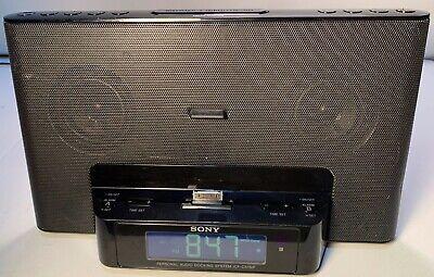Sony DREAM MACHINE Alarm Clock Radio Aux 30-Pin iPod Speaker Dock ICF-CS15iP