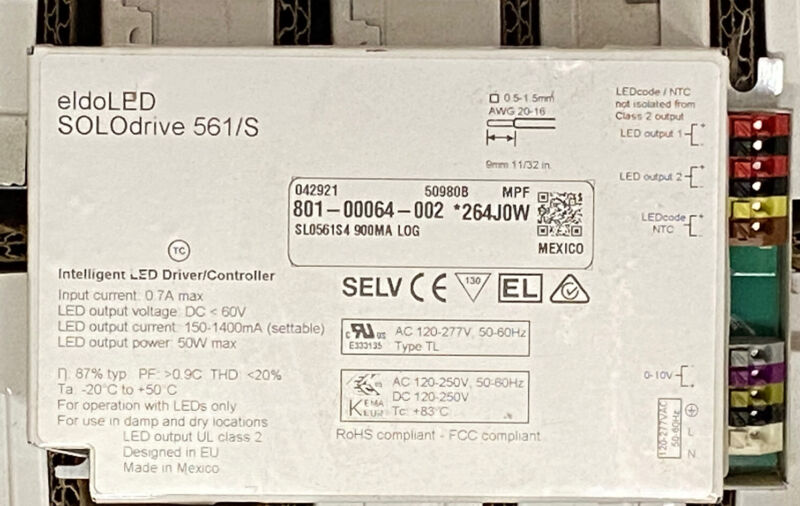 NEW eldoLED SOLOdrive 561/S Intelligent LED Driver / Controller