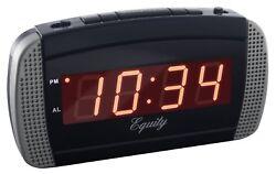 Super Loud Led Alarm Clock Digital Extra Loud Alarm 30240 Blk/silver .
