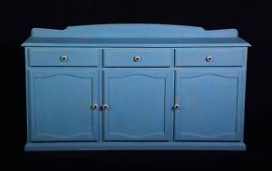 TURQUIOSE blue shabby chic large buffet cabinet,DEL. AVAILABLE Oakford Serpentine Area Preview