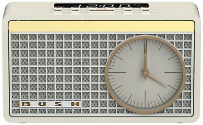 Bush Classic Analogue Clock Radio - Cream.