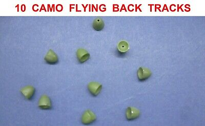 10 CAMO FLYING BACK TRACKS IN LINE BACKLEADS COARSE CARP FISHING LINE BACK LEADS