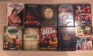 Large 80' s & 90's WWE DVD Collection