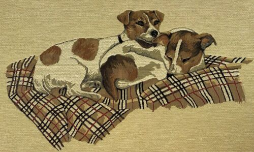 Jack Russell Terrier Dog VERONIQUE LEMORE Belgian Tapestry MADE IN BELGIUM