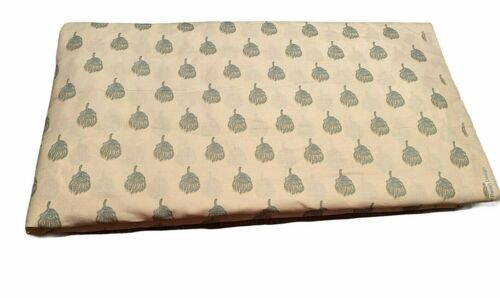 Sister Parish Fabric Petite Skukusa Ivory and Blue 8+ Yards Estate Find VGUC