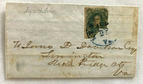 1862 Richmond, Virginia Confederate Letter Dated July 23, 1862