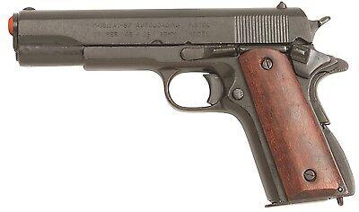 Denix Us Gov. M1911 Wood Grips Black Non-Firing Replica