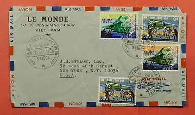 DR WHO 1968 VIETNAM SAIGON AIRMAIL TO USA C223149