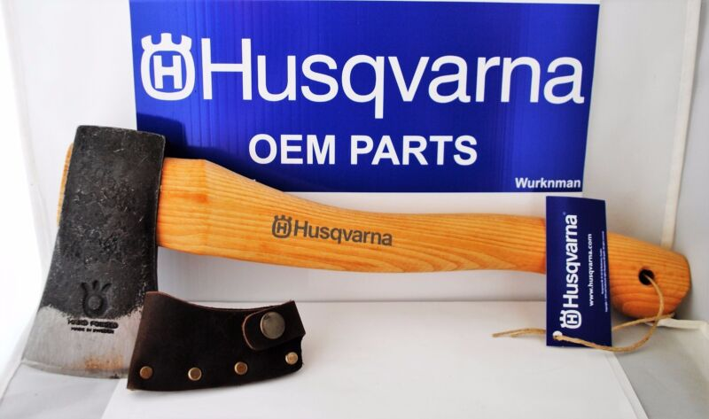 Husqvarna OEM 576926401 / 596270901   13 in Curved Hatchet With Leather Sheath