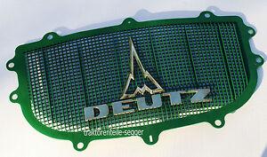 Deutz Haubengitter kpl mit Messing Emblemen kompatibel mit Deutz D 40 Traktor