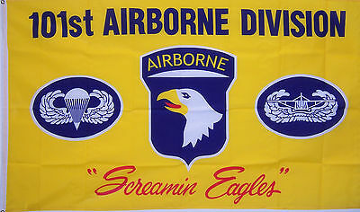 101st Airborne Division yellow Army Military New 3x5ft Flag