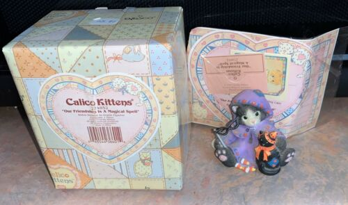 "Rare 1997 Calico Kittens #274852 ""Our Friendship Is A Magical Spell"" Halloween"