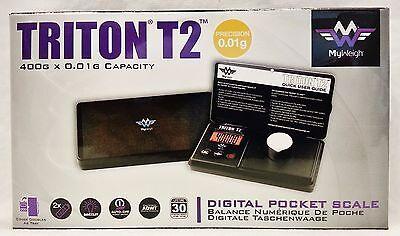 New My Weigh Triton T2 Digital Pocket Scale 400g x 0.01g Free Shipping