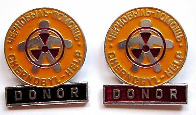 2 rare Badges (red / black) Support Chernobyl and Children of Chernobyl