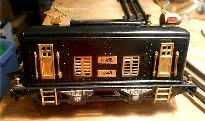 LIONEL Prewar 248 Engine-Vintage/Antique 1926-32,Serviced,Runs ,see pictures