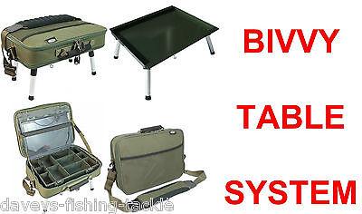 BIVVY TABLE SYSTEM CARP FISHING TACKLE BOX RIG STATION CARRYALL BAG CASE BIT BOX