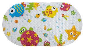 Tippitoes Anti-Slip Bath Mat Non-Slip Shower Bathroom Suction Feet Base Fun Kids