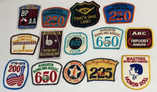Lot of 14 Vintage Bowling Patches **See Photos