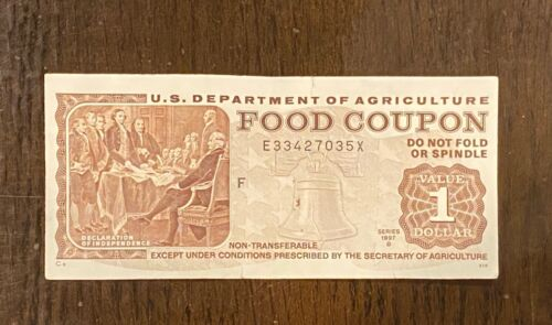 $1 US Dept of Agriculture Food Coupons Stamps Series 1997 B