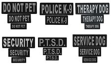 Removable Patch for Dog Harness - Reflective printed letters Safety feature