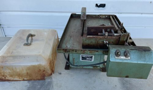 Raytech L-10S Lapidary Saw with auto-feed and hood