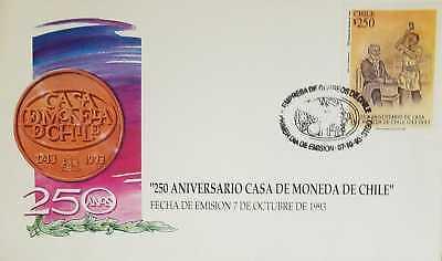 Usado, O) 1993 CHILE, CURRENCY ACUÑATION FROM 1943 - CHILENA MINT -HOUSE OF THE CURRENC comprar usado  Enviando para Brazil
