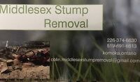 Middlesex stump removal