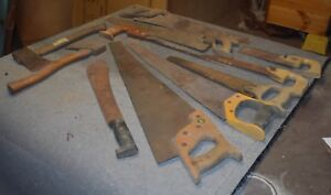 PILE OF OLD TOOLS  IN FAIR/GOOD  CONDITION