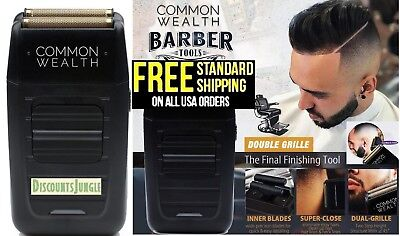 Common Wealth Professional Shaver Cordless Bump Free Gold Pro Foil Barber 5 star
