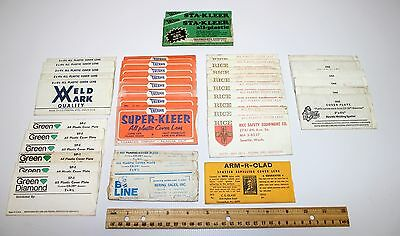 Vintage Lot Of 39 Welding Cr-39 Cover Plates Super Kleer Rice