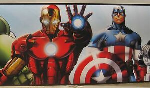 MARVEL COMICS SUPERHEROS CAPTAIN AMERICA HULK THOR Wall Border 6