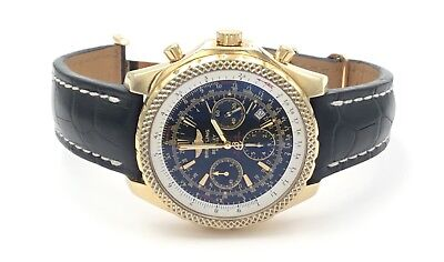 Breitling Bentley Motors Special Edition 18K Yellow Gold Chronograph Watch 48 mm
