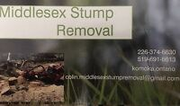 Middlesex stump removal (best rates guaranteed)