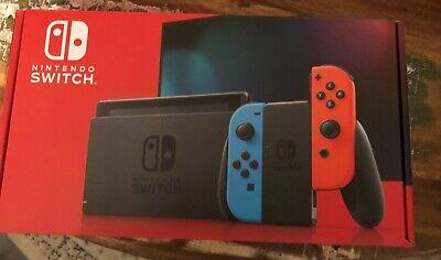 Nintendo Switch CONSOLE Neon Red Blue Joy Sticks BRAND NEW IN BOX