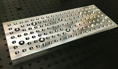 Fixture Tooling Plate 4 X 10 14-20 Holes For Mill Cnc Sherline