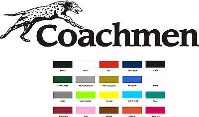 4 Coachmen Decals Small colors RV sticker  graphics trailer camper rv coachman