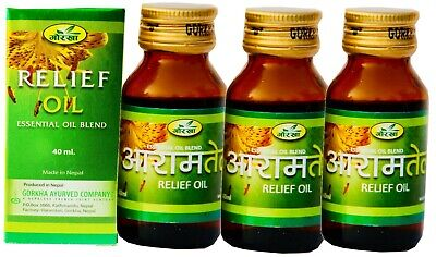 Gorkha Herbal RELIEF OIL For Rheumatism Sciatica Fatigue Migraine & Gout Therapy
