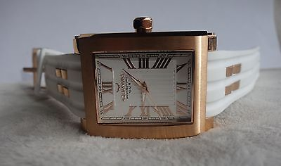 Aquaswiss MENS WATCH Tang Skeleton white and rose gold NEW