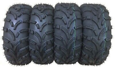 New Full Set 4 ATV Tires 25x8-12 25x8x12 Front & 25x10-12 25x10x12 Rear 6PR Mud
