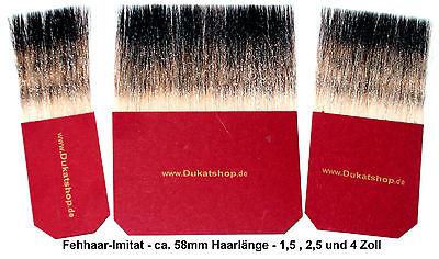 Fehhaar IMITAT Anschußpinsel Blattgold vergolden.3er Set 1,5 +2,5 + 4 Zoll/ 56mm ()