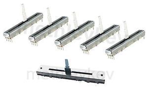 5 x FADER & 1 x CROSSFADER KIT FITS PIONEER DJM600 or DJM500 DCV1010 DCV1006