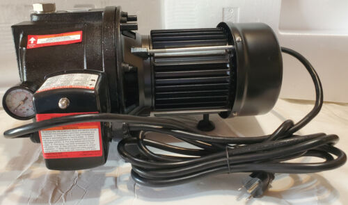 1 HP Water Well Pump w/ Pressure Control on off Switch Cast Iron 1350 GPH 12amp