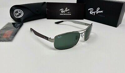 Ray-Ban TECH CARBON FIBER Men's RB8316 004 Sunglasses G-15 Green GLASS Lens (Carbon Fiber Rayban)