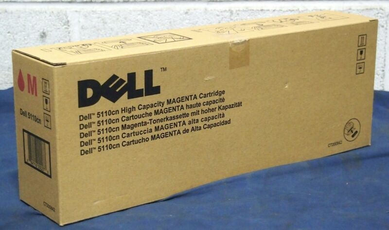 New Genuine DELL 5110cn High Capacity Toner Cartridge YELLOW MAGENTA CYAN