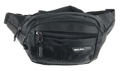 Maxx Gear Unisex Adult 4-Pocket Colorful Bum Bag Waist Fanny Pack - Black