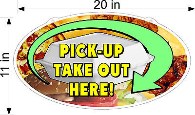 Pick Up Take Out Order Here Plexiglass Sign 11 X 20 Take Out Box Food Pics