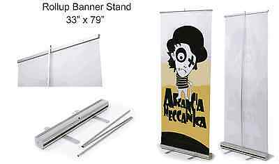 Retractable Roll Up Banner Stand Display 33 X 79 - Free Shipping